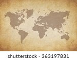map of the world | Shutterstock . vector #363197831