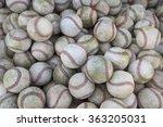 large stack of many baseballs.... | Shutterstock . vector #363205031