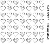 seamless love grey hearts... | Shutterstock .eps vector #363211241