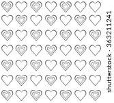 seamless love grey hearts... | Shutterstock .eps vector #363211241