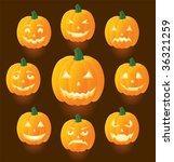 jack o'lanterns for halloween ... | Shutterstock .eps vector #36321259