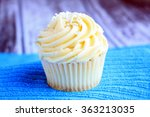 Vanilla Cupcake With White...