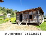old wooden house on countryside ... | Shutterstock . vector #363226835