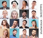 set of different people... | Shutterstock . vector #363229991