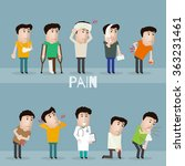 sick characters set of people... | Shutterstock .eps vector #363231461