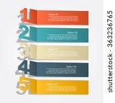 banner infographic design... | Shutterstock .eps vector #363236765