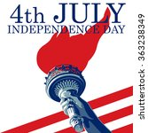 fourth of july. liberty torch.... | Shutterstock .eps vector #363238349
