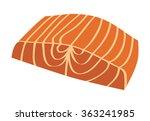 salmon steak fish fillet flat...   Shutterstock .eps vector #363241985