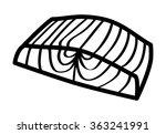 salmon steak fish fillet line...   Shutterstock .eps vector #363241991