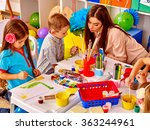 children with teacher woman... | Shutterstock . vector #363244961