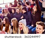sport fans clapping and singing ... | Shutterstock . vector #363244997