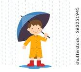 happy little boy holding an...   Shutterstock .eps vector #363251945