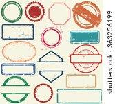 stamps frames | Shutterstock .eps vector #363256199