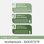 3 steps info graphic vector... | Shutterstock .eps vector #363257279