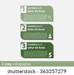 3 steps info graphic vector...   Shutterstock .eps vector #363257279