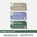 3 steps info graphic vector... | Shutterstock .eps vector #363257291