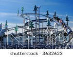 roller coaster against blue sky | Shutterstock . vector #3632623