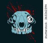 Zombie Dog Skull