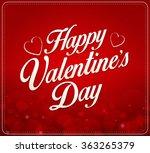 valentines day design... | Shutterstock .eps vector #363265379