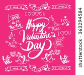 valentines day hand drawn... | Shutterstock .eps vector #363294584