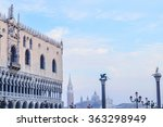 detail of doge's palace in... | Shutterstock . vector #363298949