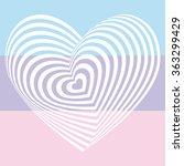 white heart on light pink aqua... | Shutterstock .eps vector #363299429