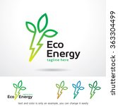 eco energy logo template design ... | Shutterstock .eps vector #363304499