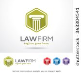 law firm logo template design... | Shutterstock .eps vector #363304541