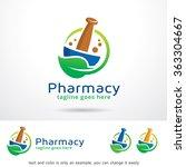 pharmacy logo template design... | Shutterstock .eps vector #363304667