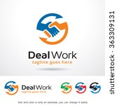 deal work logo template design... | Shutterstock .eps vector #363309131