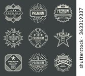 premium quality logotypes set....   Shutterstock .eps vector #363319337