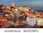city of lisbon cityscape and... | Shutterstock . vector #363323891