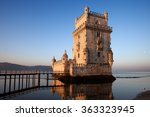 belem tower in lisbon  portugal ...