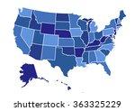 usa map vector illustration art ...   Shutterstock .eps vector #363325229