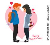 valentine's day. in love young... | Shutterstock .eps vector #363328304