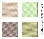 Small photo of Colour fabric sampler over a white background vintage