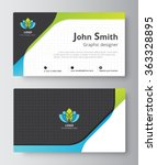 business greeting card template ... | Shutterstock .eps vector #363328895
