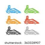 vector flat karting logo and... | Shutterstock .eps vector #363328907