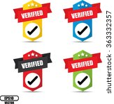 verified label and sign  ... | Shutterstock .eps vector #363332357