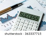 success displayed on calculator | Shutterstock . vector #363337715