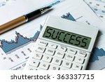 success displayed on calculator | Shutterstock . vector #363337715