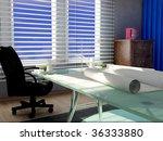 an interior of working cabinet... | Shutterstock . vector #36333880