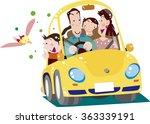 family drive | Shutterstock .eps vector #363339191