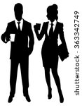 business people standing and... | Shutterstock .eps vector #363342749