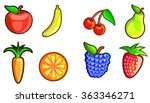 colorful fresh fruits vector... | Shutterstock .eps vector #363346271