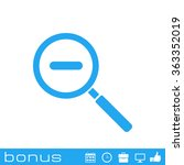 magnifying glass zoom icon | Shutterstock .eps vector #363352019