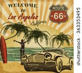 welcome to los angeles ... | Shutterstock . vector #363353495