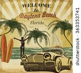 welcome to daytona beach... | Shutterstock . vector #363353741