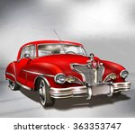 retro car. | Shutterstock . vector #363353747