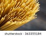 raw spaghetti pasta closeup on... | Shutterstock . vector #363355184